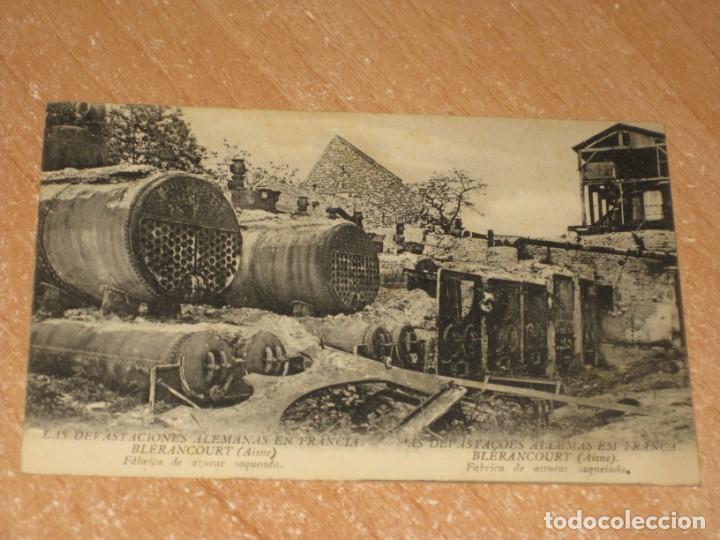 POSTAL DE LAS DEVASTACIONES ALEMANAS EN FRANCIA (Postales - Postales Temáticas - II Guerra Mundial y División Azul)