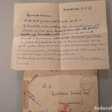 Cartes Postales: LOTE 2 CARTAS + 1 SOBRE DIVISION AZUL FRENTE RUSO 1943 Y 1942 SIMBOLOGIA NAZI GUERRA MUNDIAL. Lote 276292143
