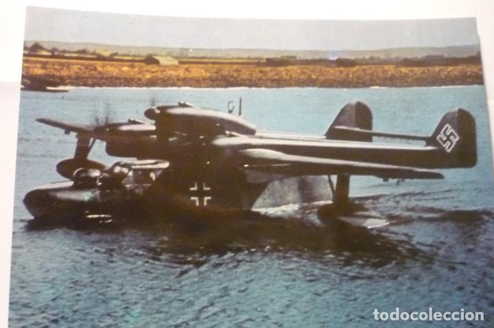 POSTAL AVION BLHOM AND VOSS BV 138-LUFTWAFFE 2º GUERRA -DORSO DATOS AVION (Postales - Postales Temáticas - II Guerra Mundial y División Azul)