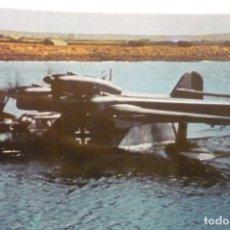 Postales: POSTAL AVION BLHOM AND VOSS BV 138-LUFTWAFFE 2º GUERRA -DORSO DATOS AVION. Lote 277166468