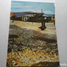 Postales: POSTAL AVION ALEMAN .-HENSCHEL H 126 -DORSO HISTORIA. Lote 287845008