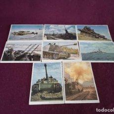 Postales: AÑOS 1940´S, LOTE CON 8 POSTALES CON FOTOGRAFÍAS DE VEHÍCULOS DE GUERRA, II GUERRA MUNDIAL. Lote 293204353