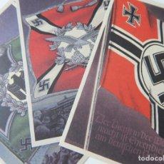 Postales: LOTE DE 3 POSTALES / BANDERAS Y ESTANDARTES DE LAS FUERZAS ARMADAS ALEMANAS - 2, 7, 17. Lote 293252588
