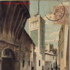 Postales: TARJETA POSTAL DE ALGER. Nº307 - LA RUE ET LA MOSQUEE SIDI - RAMDAN . - LL.. Lote 4867494