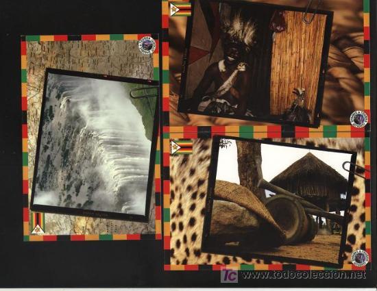 5 POSTALES - SOBRE ZIMBABWE (VER OTRA IMAGEN EN FOTOS ADICIONALES) SIN ESCRIBIR (Postales - Postales Extranjero - África)
