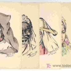 Postales: 5 POSTALES ANTIGUAS, CON DIBUJOS DE AMELIA R.E. (TETUÁN-MARRUECOS). ENVÍO: 1,30 € *.. Lote 176225800
