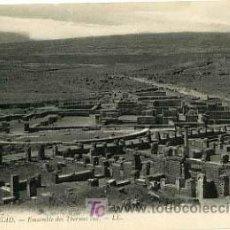 Postales: ARGELIA, TIMGAD, MARRUECOS, EMSEMBLE DES THERMES SUD, P14340. Lote 5303755