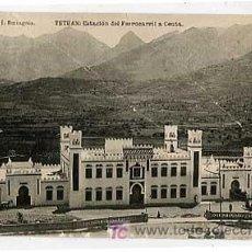 Postales: TETUAN. ESTACION DEL FERROCARRIL A CEUTA. FOTOTIPIA DE HAUSER Y MENET. ED J. BERINGOLA. ESCRITA. Lote 6367963