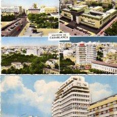 Postales: LOTE DE 3 POSTALES DE CASABLANCA, MARRUECOS. Lote 6992303