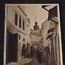 Postales: ANTIGUA FOTO DE TETUAN - MARRUECOS - CALLE DEL BARRIO MORO - ED. M. ARRIBAS - NO CIRCULADA.. Lote 12090228