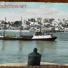 Postales: ANTIGUA POSTAL DE TANGER - EL PUERTO Y LA CIUDAD - BARCO - ED. LA CIGAGNE - CIRCULADA.. Lote 2435564