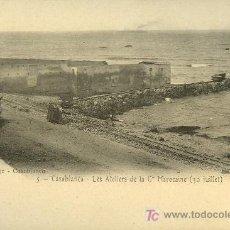 Postales: TARJETA POSTAL DE CASABLANCA Nº 5. LES ATELIERS DE LA Cª MAROCAINE. Lote 10169275