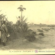 Postales: TARJETA POSTAL DE CASABLANCA Nº 60. AVANT POSTE DE TIRAILLEURS. Lote 10169340