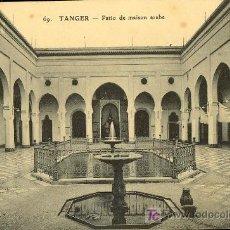 Postales: TARJETA POSTAL DE TANGER Nº69. TEATRO PATIO DE CASA ARABE. Lote 10170365