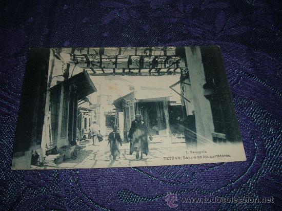 TETUAN:BARRIO DE LOS CURTIDORES,J BERINGOLA FOTOTIPIA HAUSER Y MENET-MADRID (Postales - Postales Extranjero - África)