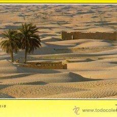 Postales: TUNEZ - LA MAR DE SABLE (CIRCULADA 1992). Lote 26896121