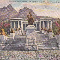 Postales: PS2551 RHODES MEMORIAL, GROOTE SCHUUR, C. P. AND ENERGY STATUE. SIN CIRCULAR. Lote 13730472