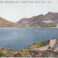Postales: PS2186 SUDÁFRICA. MARINE DRIVE, SHOWING OLD FORTS AND HOUT BAY, C. P. SIN CIRCULAR. Lote 13730481