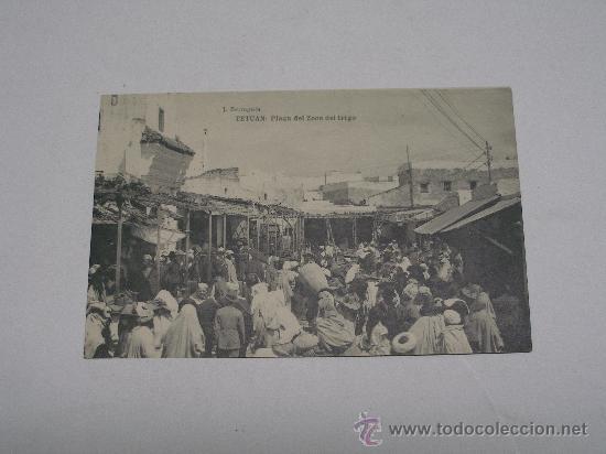 TETUAN . PLAZA DEL ZOCO DEL TRIGO . J. BERINGOLA . FOT. HAUSER Y MENET . SIN CIRCULAR (Postales - Postales Extranjero - África)