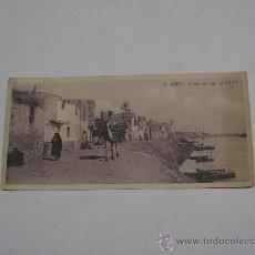 Postales: ANTIGUA POSTAL EL CAIRO ( EGIPTO ). LE CAIRE : NATIVE VILLAGE ON THE NIL . CIRCULADA EN 1915 .. Lote 14829554