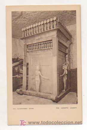 EGIPTO. TUTANKHAMEN. THE CANOPIC CANOPY. (Postales - Postales Extranjero - África)