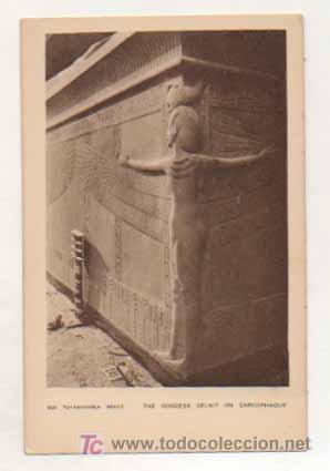 EGIPTO. TUTANKHAMEN. THE GODDESS SELKIT ON SARCOPHAGUS. (Postales - Postales Extranjero - África)