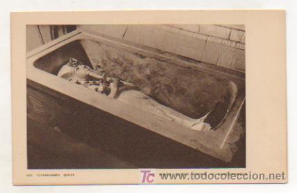 EGIPTO. TUTANKHAMEN. THE KING'S OUTER COFFIN IN SARCOPHAGUS. (Postales - Postales Extranjero - África)