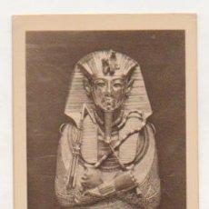 Postales: EGIPTO. TUTANKHAMEN. DETALLE DE LA CABEZA DE ORO DEL COFRE. . Lote 15244408