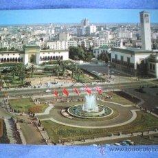 Postales: POSTAL CASABLANCA PLAZA DE LAS NACIONES UNIDAS FUENTE LUMINOSA NO CIRCULADA. Lote 15587902