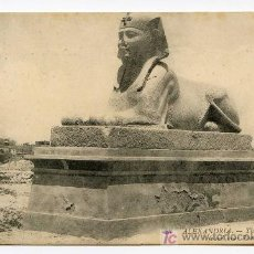 Postales: ALEXANDRIA. 28. THE SPHINX RECENTLY FOUND NEAR POMPEI´S PILLAR. LL. Lote 26139045