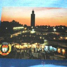 Postales: POSTAL MARRAKECH PUESTA DE SOL PLAZA DJEMAA EL FNA NO CIRCULADA. Lote 16467508