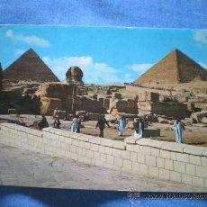 Postales: POSTAL EGIPTO LA ESFINGE Y LA PIRAMIDE DE KEOPS Y KEFREN ESCRITA. Lote 17052303