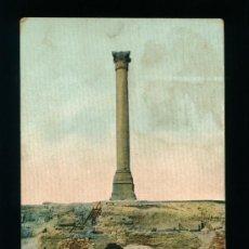 Postales: EGIPTO - ALEJANDRIA - COLUMN OF POMPEY - CIRCULADA. Lote 18554990