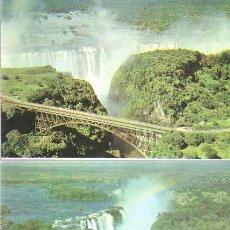 Postales: LOTE DE 2 POSTALES DE ZIMBABWE - SIN CIRCULAR . Lote 24350934
