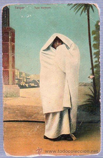 TARJETA POSTAL DE TANGER TYPE MAROCAIN. (Postales - Postales Extranjero - África)
