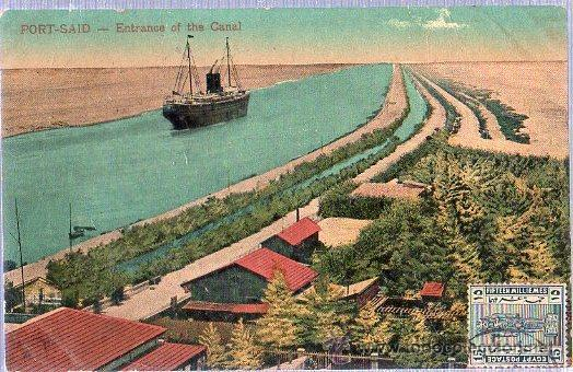 TARJETA POSTAL DE EGIPTO. PORT SAID ENTRANCE OF THE CANAL. (Postales - Postales Extranjero - África)