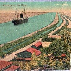 Postales: TARJETA POSTAL DE EGIPTO. PORT SAID ENTRANCE OF THE CANAL.. Lote 26002067