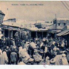 Postales: TETUAN. PLAZA DEL ZOCO DEL TRIGO. FOTOTIPIA HAUSER Y MENET. SIN CIRCULAR.. Lote 24658741
