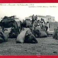 Postales: CASABLANCA, MARRUECOS, SCENES ET TYPES, UNE HALTE, P47190. Lote 25279062