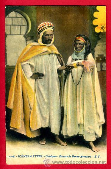 MARRUECOS, SCENES ET TYPES, GUIDZANE, DISEUSE DE BONNE-AVENTURE, P47521 (Postales - Postales Extranjero - África)