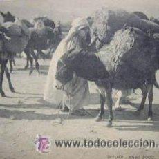 Postales: POSTAL TETUÁN: EN EL ZOCO. FOTOTIPIA HAUSER Y MENET.. Lote 27283714