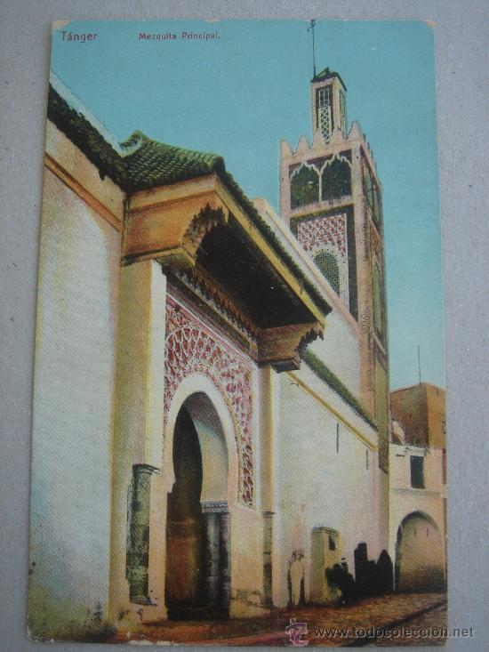 POSTAL ANTIGUA CON IMAGEN DE TÁNGER -MEZQUITA PRINCIPAL-. CIRCULADA. (Postales - Postales Extranjero - África)