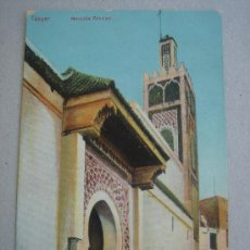 Postales: POSTAL ANTIGUA CON IMAGEN DE TÁNGER -MEZQUITA PRINCIPAL-. CIRCULADA.. Lote 27396344