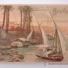 Postales: TARJETA POSTAL DE LE CAIRE, DHAHABIYES AU BORD DU NIL, W.HAGELBERG AKT GES. BERLIN 35980. Lote 26886833