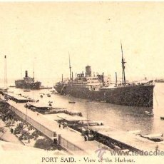 Postales: TARJETA POSTAL . EGIPTO. PORT SAID. VIEW OF THE HARBOUR.VITTA & CIE.. Lote 27985718