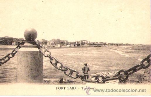 Postales: TARJETA POSTAL . EGIPTO. PORT SAID. THE BEACH. VITTA & CIE. - Foto 1 - 27985742