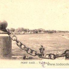 Postales: TARJETA POSTAL . EGIPTO. PORT SAID. THE BEACH. VITTA & CIE.. Lote 27985742