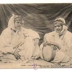 Postales: ORAN. FEMMES ARABES. (CIRCULADA 27/9/1909. ESCRITA POR UN MILITAR ESPAÑOL). Lote 28828536