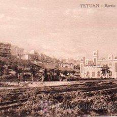 Postales: TETUAN, BARRIO DE LA LUNETA. Lote 36041957
