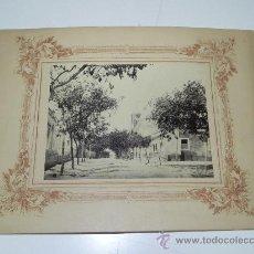 Postales: ANTIGUA FOTOGRAFIA ALBUMINA DE UNA CALLE DE LUANDA, ANGOLA, OLD PHOTOGRAPH ALBUMIN OF A STREET LOAND. Lote 30013541